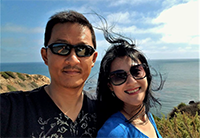 Ting-Ting Chang with husband Vincent Liao