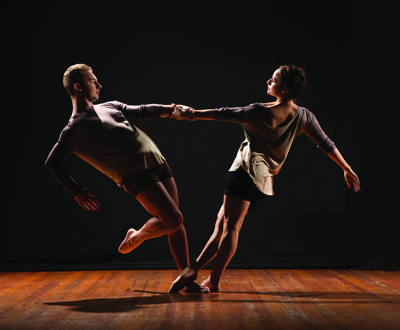 The 2019 MFA in Dance cohort Harry Parker and Rachael Servello.