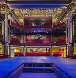 Photo of the interior of the Chesapeake Shakespeare Company, Baltimore, Maryland