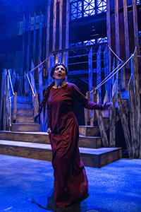 Lesley Malin as Lady Macbeth with the Chesapeake Shakespeare Company, Baltimore, Maryland