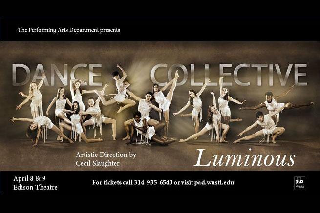 WashU Dance Collective: Luminous,  April 8 & 9, 2017 Edison Theatre