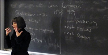 Professor Julia Walker Teaching Class