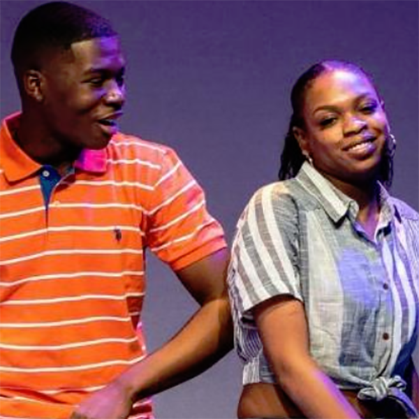 Dwayne McCowan (LA '20) steps on to The Black Rep stage.