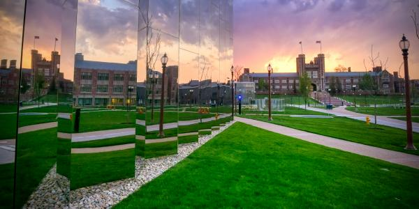 Kemper Mirrors reflect Brookings Hall
