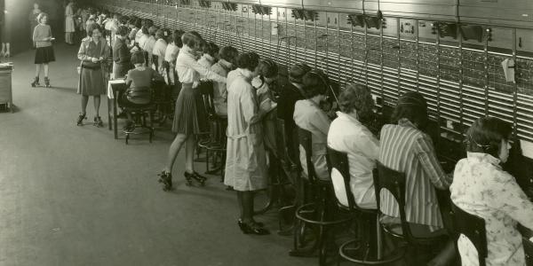 Chicago Messenger Girls on Roller Skates circa 1929